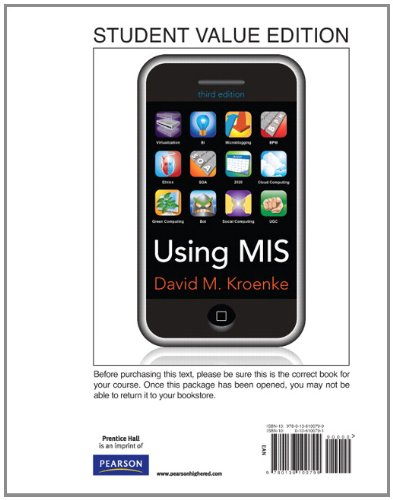 Using MIS: Supplement, 3rd Edition