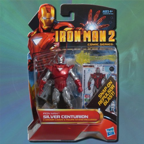 Iron Man 2 Comic Series Action Figure #34 Silver Centurion Iron Man 3.75 Inch - 1
