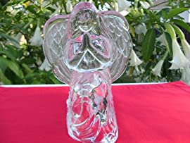 Crystal Angel Candle Holder