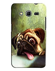 Blue Throat Dog Scaring Printed Designer Back Cover/ Case For Samsung Galaxy Core Prime