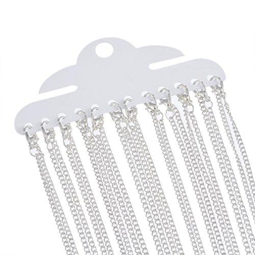 souarts-couleur-argent-colliers-ouverte-chaine-a-maillons-2x3mm-avec-fermoirs-mousquetons-18-lot-de-