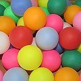 カラフル ピンポン玉 娯楽 レジャー 用 無地 ロゴ無し 選べるカラー 100個 セット (白)