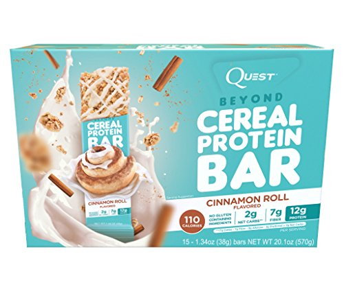 Quest Nutrition Beyond Cereal Protein Bar, Cinnamon Roll,1.34 Ounce, 15 Count (Quest Protein Cinnamon Roll compare prices)