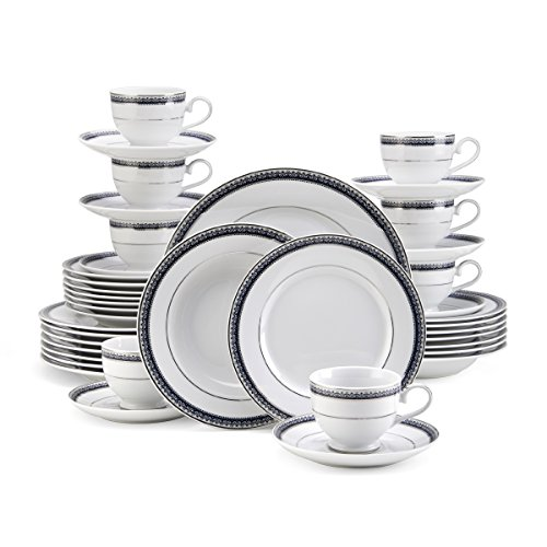 Mikasa Platinum Crown Cobalt 40-Piece Dinnerware Set, Service for 8 (Mikasa Platinum Crown Cobalt compare prices)