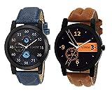 #3: Om Designer Analogue Multicolor Dial Men's Watch-Den-234 (Pack Of 2)
