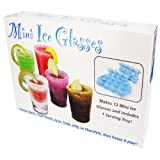 SHOT GLASS ICE MOLD WITH RE-USABLE PLASTIC SERVING TRAY (13PC. SET)