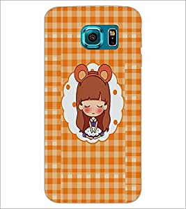 PrintDhaba Dreaming Girl D-2509 Back Case Cover for SAMSUNG GALAXY S6 (Multi-Coloured)