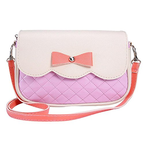Outtop Women Girl Bowknot Shoulder Bag Casual Handbag Contracted Style Tourism Package (Pink) (Pink Package compare prices)