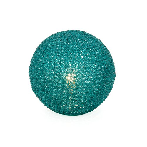 New Torre Tagus Sphere Mesh Table Lamp Small Turquoise