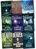 Jeffery Deaver Jeffery Deaver A Lincoln Rhyme Novel 9 Books Collection Pack Set RRP: £76.77 (The Cold Moon, The Stone Monkey, The Burning Wire, The Broken Window, The Vanished Man, Twelfth Card, The, The Bone Collector, The Coffin Dancer, The Empty Chai