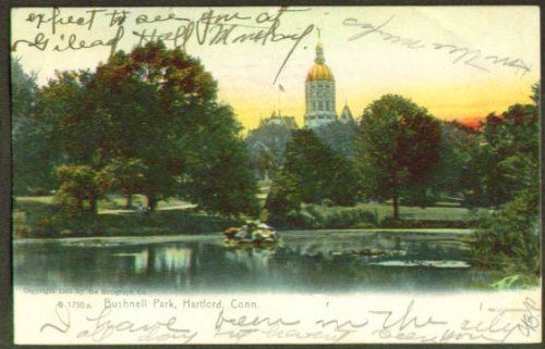 Bushnell Park Capitol Building Hartford Ct Undivided Back Postcard 1909