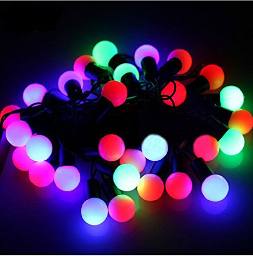 Christmas Light String Lights How Nice® 7.5W 10M Diam 24Mm (Middle Size Bulb) 100 Led Ball Lights Globe String Lights For Indoor And Outdoor Decoration (Multi Color) Decorate Christmas Tree