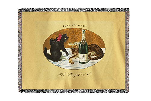 champagne-pol-roger-vintage-poster-c-1921-60x80-woven-chenille-yarn-blanket