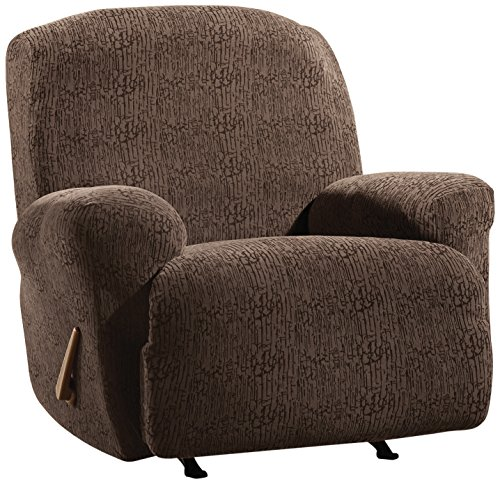 Sure Fit Stretch Galaxy Recliner Slipcover, Chocolate front-941836