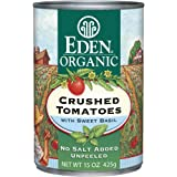 Eden Organic Crushed Tomatoes with Sweet Basil, 15-Ounce Cans (Pack of 12)