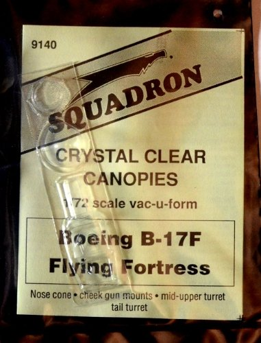 Squadron Products B-17F Vacuform Canopy