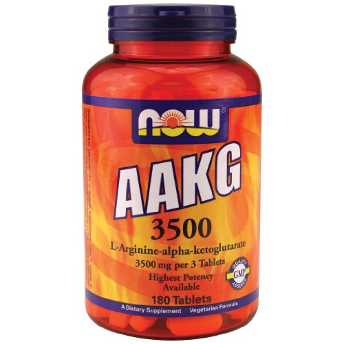Now Foods AAKG 3500 - 180 Tabs Paquet de 12