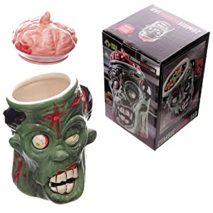 Zombie Ceramic Novelty Cookie Jar Gifts And Cards
