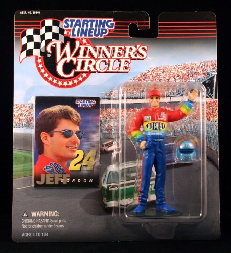 1997 - Hasbro - Starting Lineup - Winner's Circle - Jeff Gordon Action Figure - #24 Dupont Monte Carlo - Includes Helmet & Collector Card - Collector Perfect - Out of Production - New - Mint - Collectible