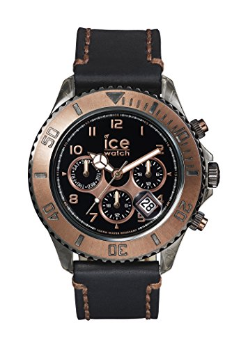 Ice-Watch VT.MF.BKB.B.L.14 Mens Big Ice-Vintage Black Bronze Multifunction Leather Strap Watch