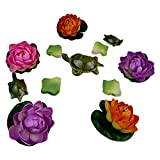 Thefancymart combo of Decorative Floating 5 lotus flowers +3 Turtles + 144 flower petals Style Code-3