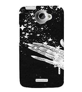 PrintVisa Sparkle Stars Design 3D Hard Polycarbonate Designer Back Case Cover for HTC One X
