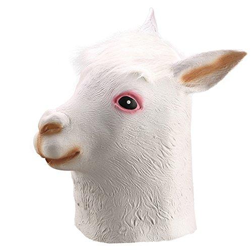 [Ylovetoys Latex Alpaca Head Mask Halloween Costume Party Decoration Masks] (Apaca Costume)