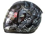 THH Cyber Lady Silver Full Face Helmet - Black