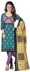 Mansi Fashion Women's Cotton Dress Material (MF-MP-2002 , Blue)