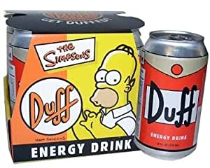 The Simpsons Duff Beer Energy Drink with Collector's Case (4 Pack)