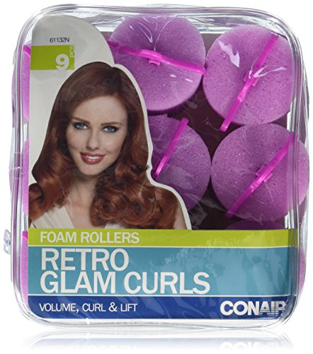 Conair Big Curl Foam Rollers, 9 Count (Conair Foam Rollers Extra Large compare prices)