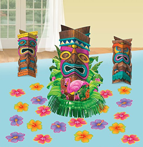 Hawaiian Luau Tiki Table Decorating Kit (23pc) - 1