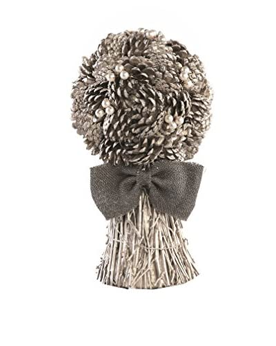 Napa Home & Garden Vintage-Inspired Pine Cone And Pearl Bouquet, Antique Platinum