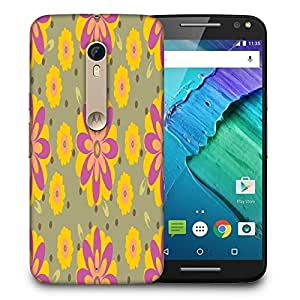 Snoogg Pink Floral Printed Protective Phone Back Case Cover For Motorola X Style