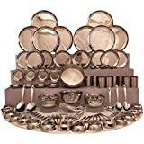 Shri & Sam Stainless Steel Dinner Set, 101 Pieces - Silver