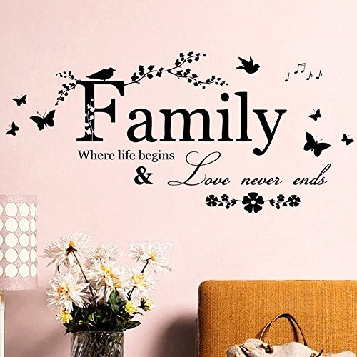 Living Designs Family Life Love Quote Wall Decals Sticker Mural Vinyl Room Home Decor DIY, Self Adhesive Art (Disney Cars Wall Lamp compare prices)