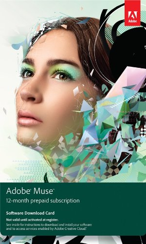 Adobe Muse CS6 12 Month Pre-Paid Membership Product Key Card [Old Version] (Adobe Muse Software compare prices)