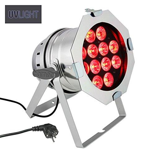 Cameo projecteur paR 64 lumière uV avec cAN - 12 x 10 w, 6-in - 1 lED-hex, argent