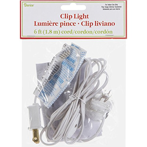 Darice 6402 Accessory Cord with 1 Lights, 6-Feet, White (Electrical Bulb Cord compare prices)