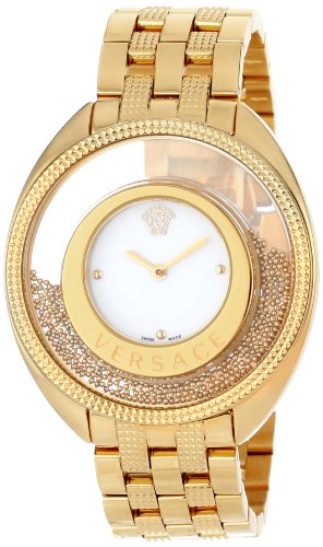 Versace Women's 86Q70D002 S070 Destiny Spirit Floating Micro Spheres Gold IP Steel Watch