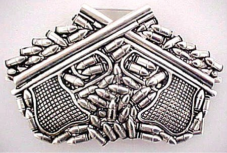 Buy Guns & Ammo Chrome Belt Buckle W/ Hidden Lighter