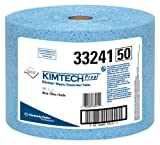 "Kimberly-Clark Kimtech Prep 33241 Polypropylene Prep Disposable Jumbo Roll Wiper, 13-25/64"" Length x 9-19/32"" Width, Blue (Case of 717)"