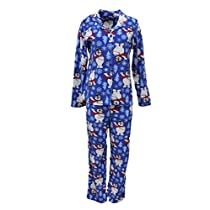 womens-frosty-the-snowman-pajamas-blue-fleece-pajama-set