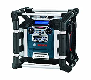 Bosch PB360D 18-Volt Lithium-Ion Deluxe Power Box Jobsite Radio and Charger