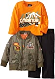 Boys Rock Baby-Boys Infant 3Piece Jacket Set Extreme Team, Green, 24 Months