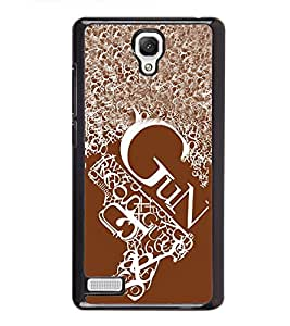 Vizagbeats Gun On Gun Back Case Cover For Xiaomi Redmi Note