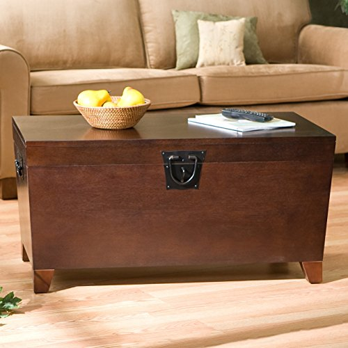 Danville Trunk Coffee Table with Lift-top Espresso Home Furniture Organizer Set Sleek and Functional Living Room Centerpiece in Contemporary Style and Usefulness,has Wooden Trunk Storage Unit That Helps You Organize Your Books,albums,family Artifacts (Espresso Lift Top Table compare prices)