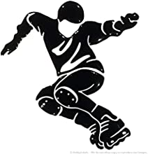 3d adhesivo de volumen, funda de rodillo de hielo patinaje patines de Derby larga duración pegatinas Calidad e21.001