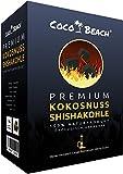 CocoBeach Premium Shishakohle (1 kg) - Naturkohle - 100% Kokosnuss [90 Minuten Brenndauer, starke Hitze, kein Eigengeschmack]
