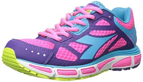 Diadora Women's N-4100-2 W Running Shoe, Pink Fluorescent/Blue Fluorescent, 6.5 M US